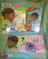 NEW DOC MCSTUFFINS CARDINALS UNO GAME,MEMORY MATCH GAME AND ACTIVITY BOOK