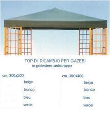 RICAMBIO TELO GAZEBO 3X4 ANTISTRAPPO,COPERTURA,TOP,TETTO, VERDE 16756