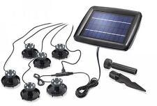 faretti a energia solare a led subacquei per laghetti kit 6 fari luce lampada
