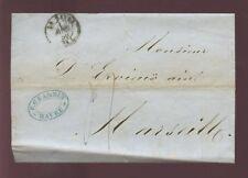 France 1850 couverture + lettre... Havre PMK... p.grandin