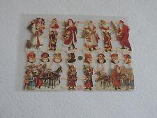 1x Poesiebilder Oblaten 331 Weihnachtsmann nostalgie Weihnachten Glanzbilder
