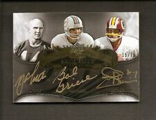 2008 EXQUISITE LEGENDARY SIGNATURES GOLD INK TITTLE GRIESE THEISMANN #15/75
