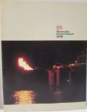 Vintage Texaco Inc. Annual Report 1978 Summary of Earnings Balance Sheet