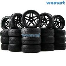 20 Stück RC 1/10 On Road Reifen Tires & Hex 12mm Felge Rims For 1:10 Touring Car