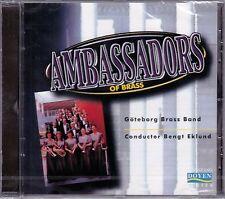 New! AMBASSADORS OF BRASS Goteborg Brass Band Import CD Doyen Bengt Eklund