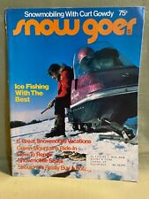 Snow Goer snowmobile magazine Dec. 1973 Evinrude Arctic Cat Scorpion Alouette