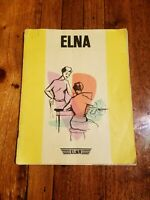 Vintage 1958 Elna Sewing Machine Instruction book Supermatic / Plana Supermatic
