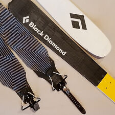 BLACK DIAMOND HELIO 88 CARBON FIBER TOURING SKIS WITH SKINS!  GREAT SHAPE!