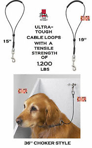 PRO HEAVY DUTY STEEL CABLE DOG Grooming LOOP RESTRAINT NOOSE for Table Arm,Bath