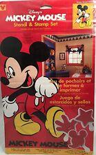 Disney Mickey Mouse Stencil & Stamp Set Wall Art Decor Kids Bedroom Playroom