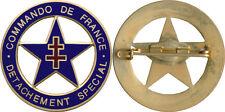 Commando de FRANCE, Détachement Spécial, retirage émail bleu fonçé, (10011)