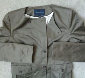 Banana Republic Womens 8 Shiny Button Down Work Wear Blazer Jacket Coat Suit Top