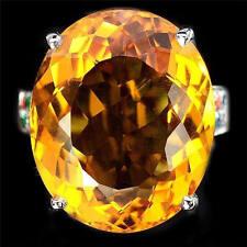 4.6ct Woman Charm 925 Silver Ring Citrine Man Wedding Ring Size 6-10