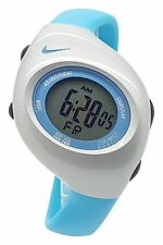 New Nike Kids Triax Junior WR0017 Vivid Blue Silver Digital Sports 38mm Watch