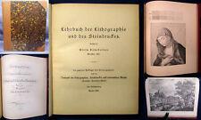 Senefelder Lehrbuch der Lithographie und des Steindruckes 1925 2.Auflage js
