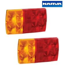 Narva 12V LED Rear Stop Tail Indicator Trailer Light Kit Set of 2 with Cable
