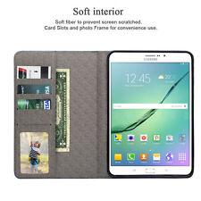 "Premium PU Leather Folio Smart Cover Case For Samsung Galaxy Tab S2 8.0""/9.7"""