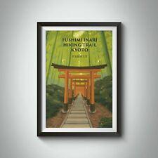 More details for fushimi inari hiking trail kyoto japan travel poster - bucket list prints
