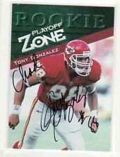 TONY GONZALEZ KANSAS CITY CHIEFS PERSONALIZED AUTOGRAPHED CARD
