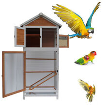 """21""""x30""""x64"""" ; Bird Cage Wooden Cockatiel Parakeet Canary Finch Conure Play House"""