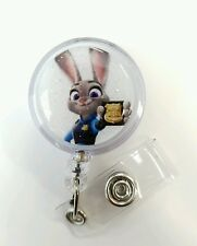 Disney's ZOOTOPIA Police Judy Hopps, Retractable Badge Name Tag ID Holder,