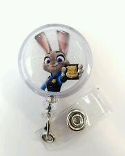Disney's ZOOTOPIA Police Judy Hopps, Retractable Badge Name Tag ID Holder,