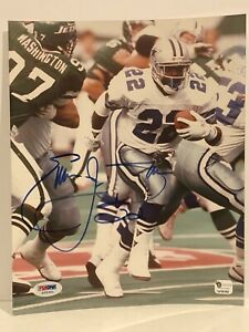 Emmitt Smith Dallas Cowboys Signed Autographed 8x10 Picture PSA/Dna