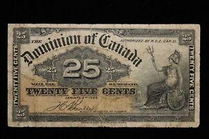 1900 Dominion of Canada. 25 Cents. Shinplaster. Boville.