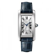 New Cartier Tank Americaine Stainless Steel Automatic Silver Watch WSTA0017