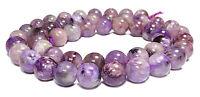 😏 Charoit Perlen Kugeln ca. 8,5 mm Edelsteinperlen Strang für Mala, Kette + 😉