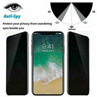Anti-Spy Privacy Tempered Glass For iPhone 11 Pro MAX XR 8 7 Screen Protector aa