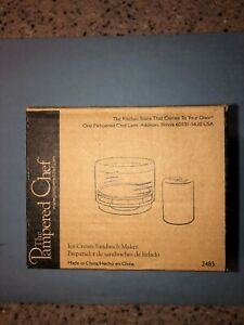 THE PAMPERED CHEF ICE CREAM SANDWICH MAKER NEW IN BOX 2485 FREE SHIPPING