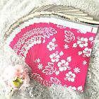 100 Designer Printed Poly Mailers 10X13 Shipping Envelopes Bags PINK ALOHA