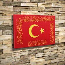 Tugra Osmanli Sancak Fetih Sancak Bayrak Kelime-i Tevhid Besmele Kanvas 50x70 cm