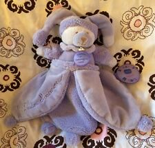 Doudou et Compagnie Macaron Lavande baby Security Blanket plush toy Purple Bear