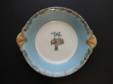 GDA LIMOGES Two Handled Bowl Plate White/Blue