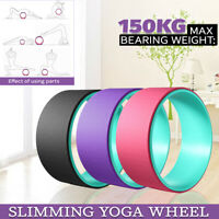 Yoga Prop Wheel Back Bend Body Shaping Stretch Roller Circle Exercise Fitness
