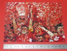 PHOTO CARTE L'EQUIPE FOOTBALL FINALE CHAMPIONS 2005 MILAN AC LIVERPOOL GERRARD