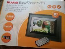 "Kodak EasyShare 8"" Digital Picture Photo Frame Black w/ Remote & Manuals SV811"