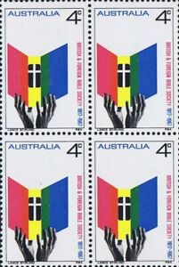 Australian Scarce 1967 4x 4c Stamp Block British & Foreign Bible Society Issues