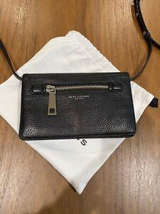 Marc Jacobs Gotham Pebbled Black Leather Crossbody Handbag