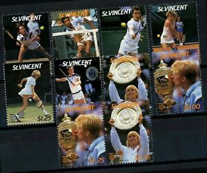 St. Vincent 1987 SG#1057-1064 Lawn Tennis Players MNH Set #E31581