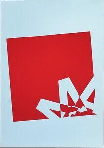Renato Spagnoli serigrafia 1973 A come Alfabeto rif 1  50x34 firmata numerata