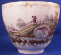 Antique 18thC Royal Copenhagen Porcelain Scenic Cup Porzellan Tasse Scene Danish