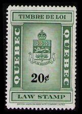 CANADA QUEBEC REVENUE 20c #QL110 MNG NH RARE LAST LAW STAMP  ISSUE 1962 CAT $15.