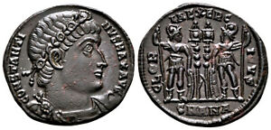 CONSTANTINE THE GREAT (330-335 AD) Ae3 Follis. Antioch #CA 7674