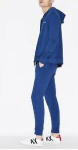 NWT. Armani Exchange AX Tracksuit Men's Small Jogger/Hoodie (Retail $185) Blue