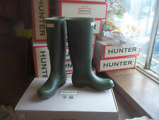 VINTAGE GREEN NORRIS HUNTER WELLINGTONS WELLIES IN HALIFAX SIZE 8   LADIES TALL