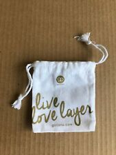 Gorjana Live Love Layer Small Jewelry Travel Gift Drawstring Pouch Bag