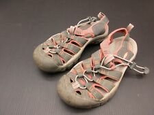 Keen Size 6 Womens Pink Canvas Hiking Walking Closed Toe Strap Sandals 2H